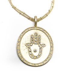 Fabulous Hamsa necklace by Sheila Fajl Designs - my favorite and most talented jewelry designer.