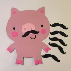 Pin the Mustache on the Pig Game