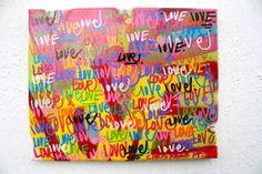 ORIGINAL street art abstract graffiti word by ChrisRiggsArtGallery, $299.00