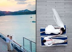 Great photo opportunities on a cruise wedding! Call Welcome Aboard Cruises to book yours today!