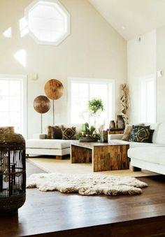 Вопрос №7.  Это большая квартира (желательно на верхнем этаже) с террасой. Просторные комнаты, большие окна. Некая смесь мягких тонов, натуральных материалов и предметов роскоши типа большого зеркала в позолоченной раме или люстры.