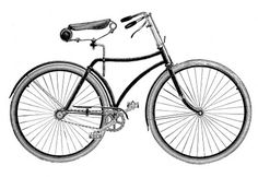Vintage Clip Art - Bicycle - The Graphics Fairy She has loads of cute clip art at high res