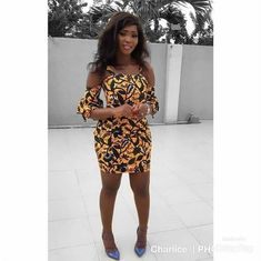 The complete pictures of latest ankara short gown styles of 2018 you've been searching for. These short ankara gown styles of 2018 are beautiful African Print Dresses, African Fashion Dresses, African Dress, Fashion Outfits, African Outfits, African Clothes, Ankara Fashion, African Prints, Fashion 2017