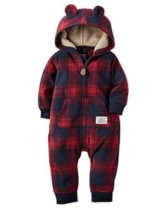 Amazon.com: Carter's Baby Boys' Hooded/Eared Romper (Baby): Clothing