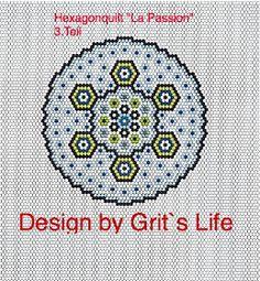 """Grit's Life: 3.Teil Hexagonquilt """"La Passion"""""""