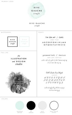 Updated Branding! Rive Gauche Craft | Illustration & Graphic Design for Blogs, Web, & Print | www.rivegauchecraft.com