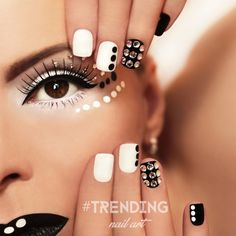 For today I have made you a wonderful collection of 15 polka dot nail designs to inspire you and to awake you creativity. Dotting Tool Designs, Nail Art Designs, Dot Nail Art, Polka Dot Nails, Polka Dots, Hair And Nails, My Nails, Nails Design With Rhinestones, Best Gifts For Him