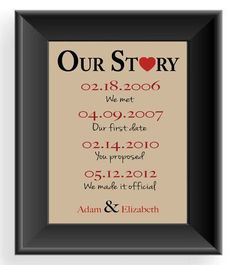 First Anniversary Gift - Gift for Husband -Important Dates -Wedding Gift for Couple- Personalized Couple& Gift- Can be done in other colors First Wedding Anniversary Gift, Anniversary Gifts For Husband, Anniversary Ideas For Couples, Anniversary Surprise, Second Anniversary, Anniversary Flowers, Marriage Anniversary, Paper Anniversary, Dating Gifts