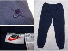 7e5e1dcd43909d Vintage Men s 90 s Nike Pants Blue Nylon Windbreaker Warmup Embroidered  Swoosh XXL by GentlyUsedGoods on Etsy