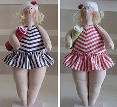 Lindas änglar -really cute Puppet Patterns, Doll Clothes Patterns, Doll Patterns, Clothing Patterns, Bath Doll, Coastal Quilts, Tilda Toy, Little Stitch, Sewing Dolls