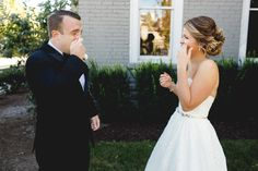 THE SWEETEST FIRST LOOK on the wedding day - Janelle Elise photography