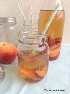 Thé glacé à la pêche et à la fleur d'oranger - Cecilecooks