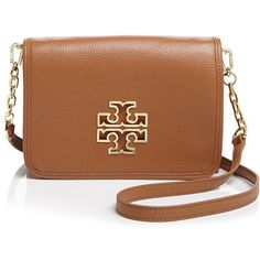 Tory Burch Britten Combo Crossbody (580 AUD) ❤ liked on Polyvore featuring bags, handbags, shoulder bags, tory burch, brown crossbody, leather crossbody purse, leather handbags, brown crossbody purse and leather crossbody handbags