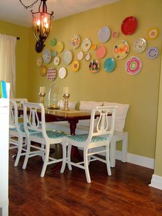 """Love this """"imperfect"""" wall design :) Use the Good Dishes!: Imperfect Life....& Plate Wall"""