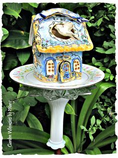Peace Cottage Garden Totem Stake As by GardenWhimsiesByMary, $35.00