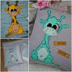 "Applikationsvorlage - ""Giraffe"" - Afrika - Kinder - Applizieren - Applikation - TiLu Design"