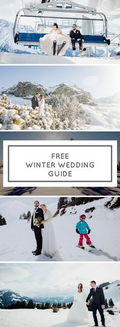Download a FREE winter wedding planning guide and start planning your dream wedding in the snow today.