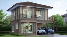 The two storey house plan for today is designed to meet the needs of comfort and relaxation. It is designed to make the most of your narrow block. Brick House Plans, Large House Plans, Two Storey House Plans, Open Floor House Plans, 2 Storey House Design, Porch House Plans, Basement House Plans, Craftsman House Plans, Floor Plan 4 Bedroom