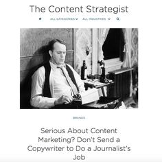 ARTICLE: Contently | Serious About Content Marketing? Don't Send a Copywriter to Do a Journalist's Job. Such great insight into the difference between a copywriter and journalist and how they both serve two very important, but different purposes -Alicia-Rae