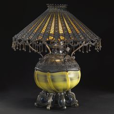 """** Tiffany Studios, """"MOORISH"""" Table Lamp."""