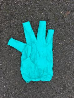 Disposable work gloves. Yuk.