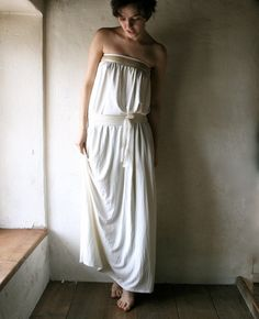 Ivory Jersey Wedding dress by larimeloom on Etsy, €150.00