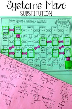 This Systems of Equations by Substitution maze worksheet would be perfect for my Algebra 1 students. I love how this math activity makes the students solve a variety of systems while engaging them in a fun manner. I will definitely be doing this activity again next year. A.5C Solve systems of two linear equations with two variables for mathematical and real-world problems.