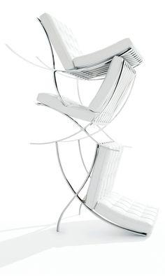 Barcelona Chair / Mies van der Rohe https://emfurn.com/collections/bar-tables