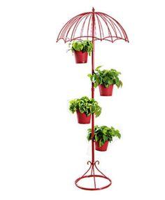 Ferro americano Multicamadas Flor Guarda-chuva Ficar Em Casa Sala de estar Varanda Flor Loja Criativa Decoração Chão Flor Planta Stand