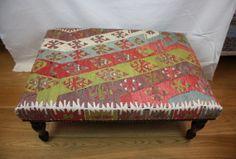 Beautiful Hand Woven  Antique Turkish Kilim Ottoman by Rugstore, £395.00