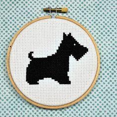 downloadable cross stitch pattern by sewingseed - cute scottie! #handmade