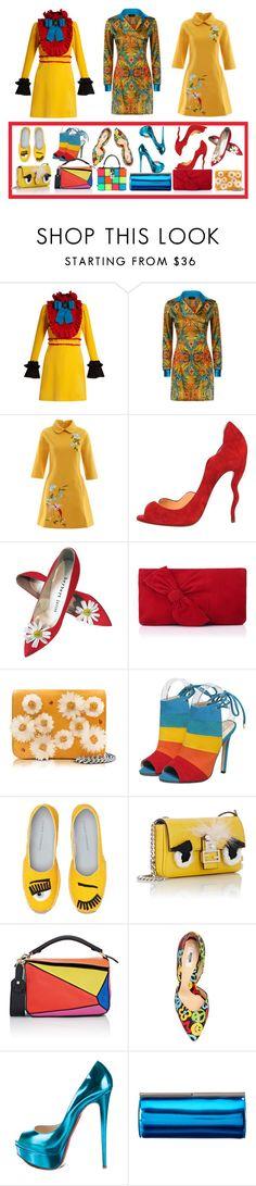 """3 sets"" by ruslana-sadova ❤ liked on Polyvore featuring Gucci, Christian Louboutin, L.K.Bennett, Charlotte Olympia, Chiara Ferragni, Fendi, Loewe, Moschino, Jimmy Choo and Dolce&Gabbana"