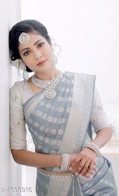 Whatt a style! Saris, Silk Sarees, Banarasi Sarees, Lehenga, Trendy Sarees, Fancy Sarees, Bridal Blouse Designs, Saree Blouse Designs, Bengali Saree
