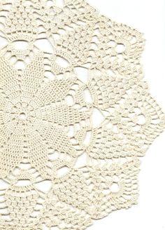 Crochet doily, lace doily, table decoration, crocheted place mat, centre piece,doily tablecloth, weddings, napkin, cream, handmade doilies