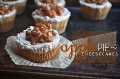 MINI APPLE PIE CHEESECAKES // shutterbean