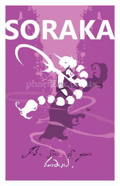 Soraka: League of Legends Print. $14.00, via Etsy.