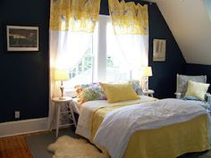 Love this pretty yellow and navy color scheme, from The Life of CK and Nate