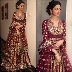 India Emporium is a one stop ethnic wear online store for all your online saree shopping, designer wear, salwar kameez, bridal wear, lehenga cholis & artificial jewellery needs. Bridal Anarkali Suits, Anarkali Dress, Pakistani Dresses, Indian Dresses, Salwar Kurta, India Fashion, Ethnic Fashion, Style Fashion, Indian Wedding Outfits