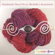 Handmade Shawl Pins by Michelle's Assortment @artlikebread Caissa McClinton Crochet 2