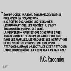 pervers narcissique, P.C Racamier (2)