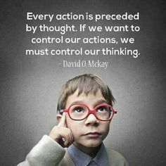 Actions and thoughts are connected!
