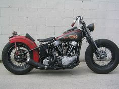 cvobreakout:  knucklehead bobber 2 by flavour404 on Flickr #motorcycles #motos #bobber | caferacerpasion.com