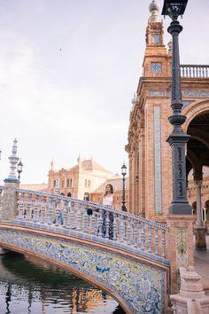 Golden Morning Glow At Plaza de España, Seville | Gal Meets Glam