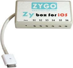 $345  The ZyBox for iOS is the simplest way to use control switches to operate your iPad or other iOS device. Connect the ZyBox for iOS to your iPad using the 30-pin dock connector, snap in one, two, or up to six control switches with 3.5mm plugs, and you have access to the entire iPad and any or all apps that are compatible with the iOS Voice Over (VO) commands.
