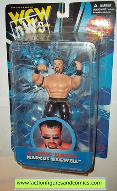 Wrestling WCW NWO action figures MARCUS BAGWELL atomic elbow moc mip mib