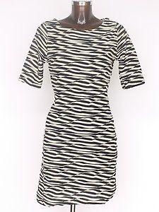 Navy/Beige Stripe Jersey dress size