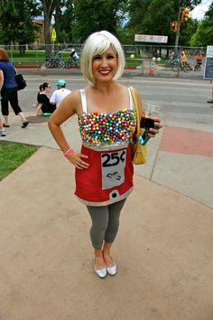 DIY gumball machine costume :)