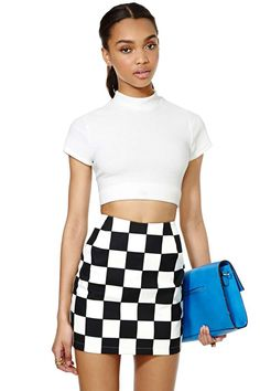 Vintage Versace Casual Chex Skirt