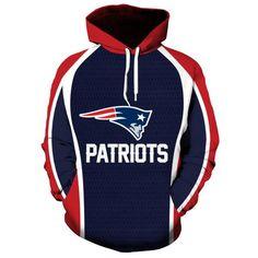 NFL Football New England Patriots 3D Hoodie Sweatshirt Jacket Pullover 24b63b77f