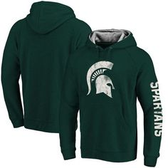 Michigan State Spartans Road Trip Pullover Hoodie - Heathered Green